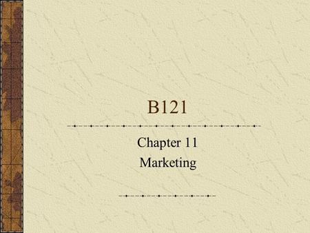 B121 Chapter 11 Marketing. It is concerned with exchange relationships. Transactional marketing – oriented towards single purchase Relationship Marketing.