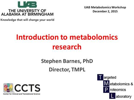 Introduction to metabolomics research