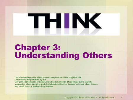 Chapter 3: Understanding Others