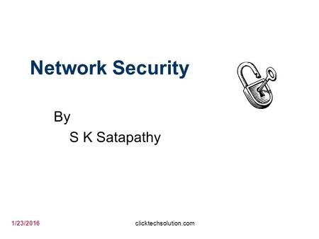 1/23/2016 Network Security By S K Satapathy clicktechsolution.com.