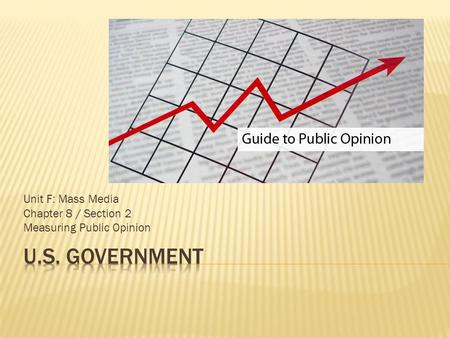 Unit F: Mass Media Chapter 8 / Section 2 Measuring Public Opinion.