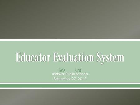  Andover Public Schools September 27, 2012.  Wiki with Resources o
