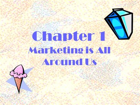 Chapter 1 Marketing is All Around Us From the time that you woke up this morning how many products have you used? Activity #1.