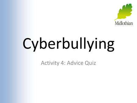 Cyberbullying Activity 4: Advice Quiz. Ask an Internet Expert These people need help from someone who knows how to be safe online... YOU! What advice.