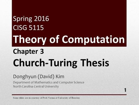 church turing thesis importance Anyways, the specifics of how turing machines work aren't that important primarily they serve as a way describe the implementation of any algorithms in a mathematical context we can use the turning machine as the backdrop for proving whether or not any arbitrary program will terminate this is known.