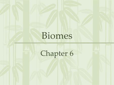 Biomes Chapter 6. Section 1- What is a Biome? A large region characterized by a specific type of climate and certain types of plants and animal communities.
