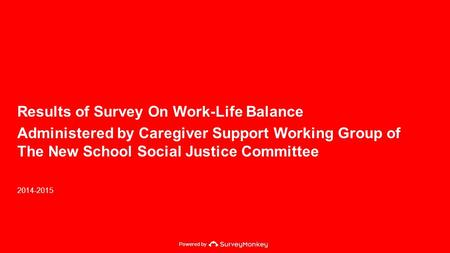 Powered by Results of Survey On Work-Life Balance Administered by Caregiver Support Working Group of The New School Social Justice Committee 2014-2015.