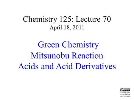 Mitsunobu Reaction Acids and Acid Derivatives