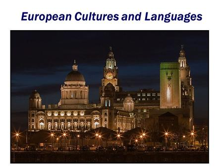 European Cultures and Languages. The people of Europe are all considered European though their national cultures are all different Europe is a continent.