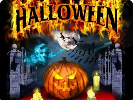 "HISTORY Halloween means ""holy evening"". Halloween means ""holy evening"". It takes place on October 31st. It takes place on October 31st. It is celebrated."