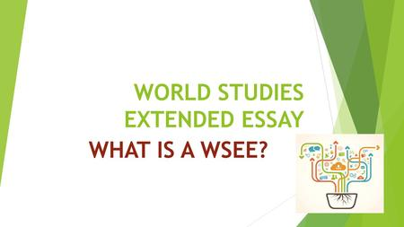 WORLD STUDIES EXTENDED ESSAY WHAT IS A WSEE?. THE AIMS OF THE IBDP WSEE IS TO: GLOBAL SELF UNDERSTANDINGSENSITIVITY.