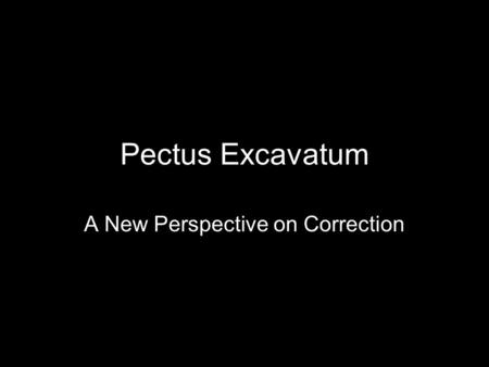 A New Perspective on Correction