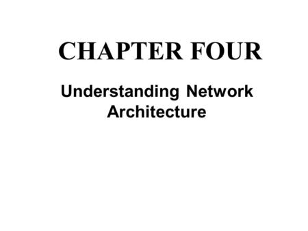 Understanding Network Architecture CHAPTER FOUR. The Function of Access Methods The set of rules that defines how a computer puts data onto the network.