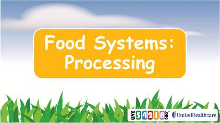 Food Systems: Processing. How is the food we eat made?