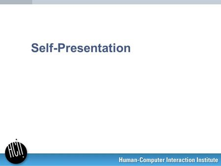 Self presentation processes in the online dating environment