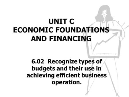UNIT C ECONOMIC FOUNDATIONS AND FINANCING