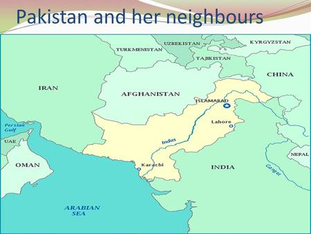 Pakistan and her neighbours. SECURITY SITUATION IN AFGHANISTAN/FATA ECONOMIC COSTS.
