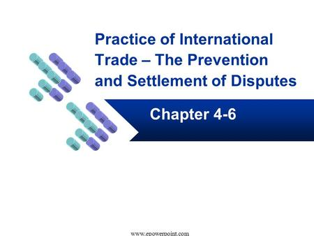 Practice of International Trade – The Prevention and Settlement of Disputes Chapter 4-6 www.epowerpoint.com.