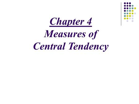 Ppt on measures of central tendency