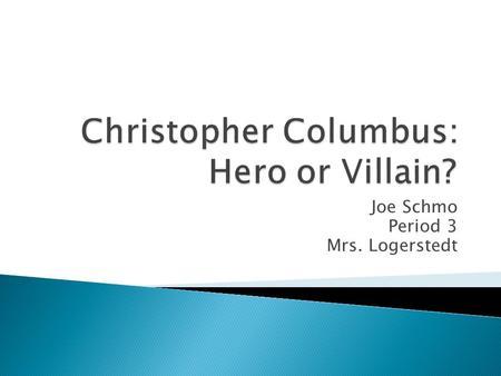 christopher columbus the hero essay