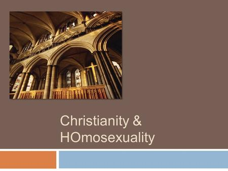 Christianity & HOmosexuality. What the UMC believes The United Methodist Book of Discipline states the following: No homosexual unions shall be performed.