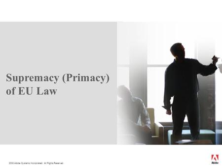 supremacy of eu law essay Supremacy of european union law over national law: the factotame case essay  [tags: european union law] strong essays 1473 words (42 pages.