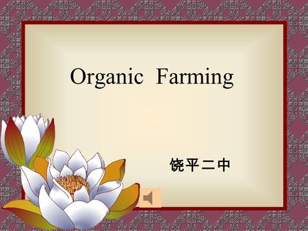 Organic Farming 饶平二中. Revision.(personal information) Name: Nationality: Born: Occupation: Education: Dream: Yuan Longping Chinese in 1931; in a poor.