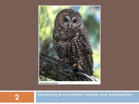Introducing Environmental Science and Sustainability 2.
