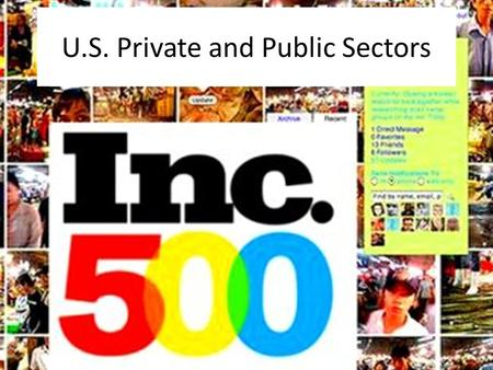 U.S. Private and Public Sectors