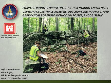 CHARACTERIZING BEDROCK FRACTURE ORIENTATION AND DENSITY USING FRACTURE TRACE ANALYSIS, OUTCROP FIELD MAPPING, AND GEOPHYSICAL BOREHOLE METHODS IN FOSTER,