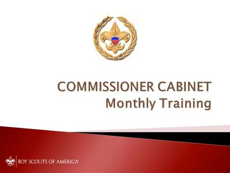 COMMISSIONER CABINET Monthly Training. The Commissioner Role with Youth Protection JACK BOYDE District Commissioner.