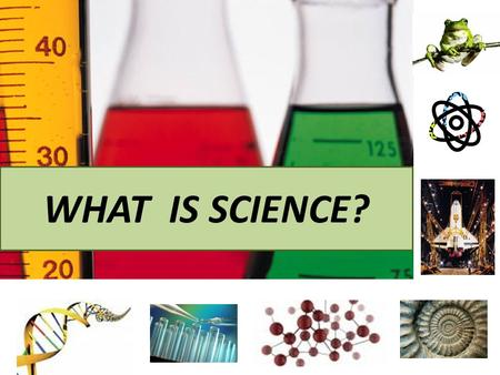 WHAT IS SCIENCE?. Evidence = Facts, Data Scientific explanations are based on data collected during experiments.