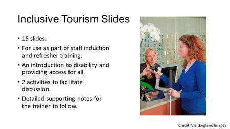 Inclusive Tourism Slides