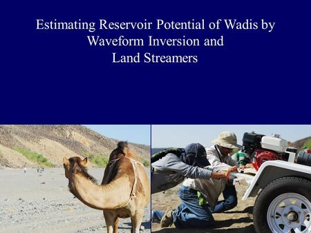 Motivation To characterize the shallow subsurface at Wadi Qudaid for its water storage and reuse potential.