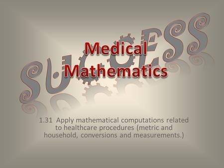 Success Medical Mathematics