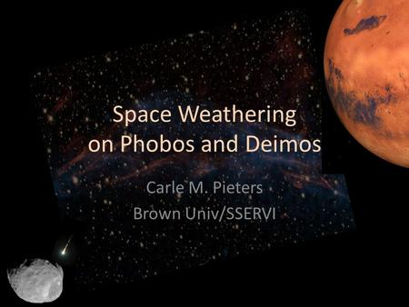 Space Weathering on Phobos and Deimos