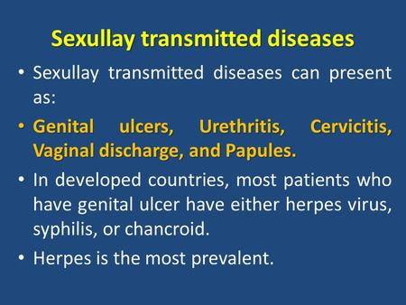Sexullay transmitted diseases