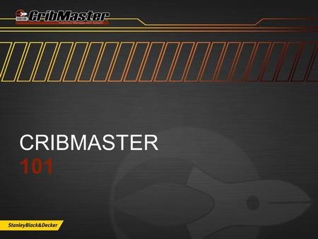 CRIBMASTER 101. WHAT'S INSIDE  Application Roles  Ribbons and Explorer  Heading and Grid Clicks  Standard Icons  Applying changes  Cool Features.