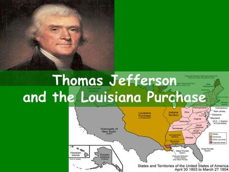 Thomas Jefferson and the Louisiana Purchase. The West West of the MI River belonged to Spain. Farmers in the west REALLY wanted the Mississippi River.