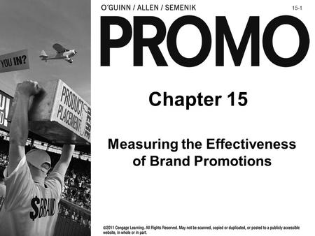 Measuring the Effectiveness of Brand Promotions