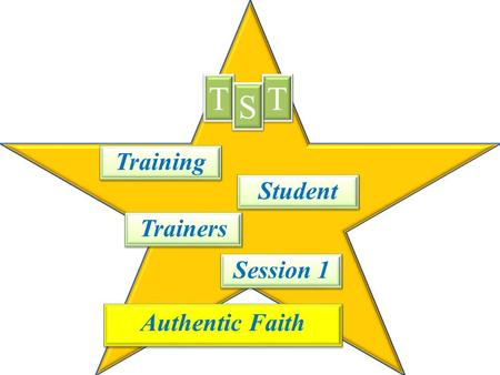 Training T T T T S S Student Trainers Session 1 Authentic Faith.