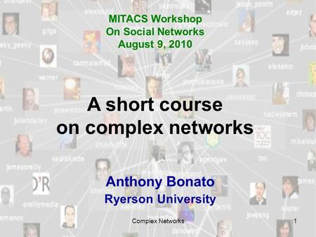 A short course on complex networks
