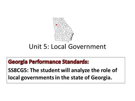 Unit 5: Local Government. Local Government Many of the day-to-day services that you use are provided by local government. Examples: Examples: Police and.