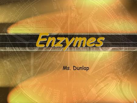 1 Enzymes Ms. Dunlap. DO NOW-5 min SILENTLY!!!! 1. What is meant by induced fit? 2. What is an enzyme? 3. List an example of a polysaccharide? Answers: