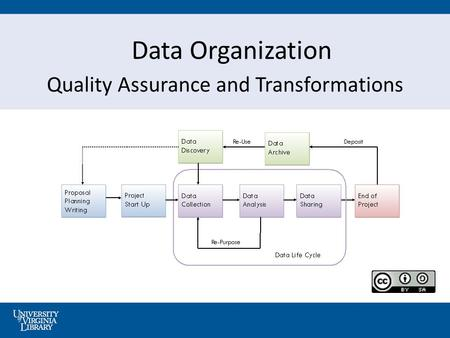 Data Organization Quality Assurance and Transformations.
