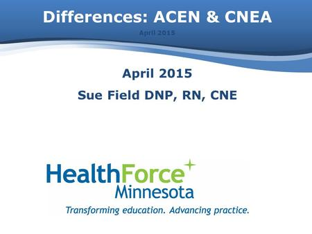 Differences: ACEN & CNEA