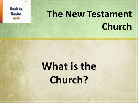 "The New Testament Church What is the Church?. The word ""church"" is from German, ""kirch"" or Scottish ""kirk"" and is a word that has more to do with the."