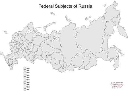 Federal Subjects of Russia GeoCurrents Customizable Base Map text.