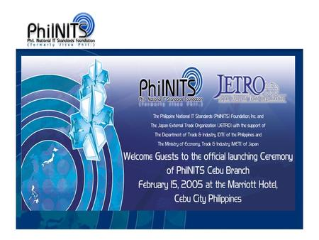 JITSE Phil. Foundation, Inc. was incorporated with the Securities & Exchange Commission (SEC) on April 10, 2002.