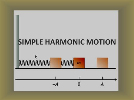 SIMPLE HARMONIC MOTION. STARTER MAKE A LIST OF OBJECTS THAT EXPERIENCE VIBRATIONS: